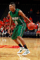 CHARLOTTESVILLE, VA- NOVEMBER 26:  Aaron Armstead #3 of the Green Bay Phoenix handles the ball during the game on November 26, 2011 at the John Paul Jones Arena in Charlottesville, Virginia. Virginia defeated Green Bay 68-42. (Photo by Andrew Shurtleff/Getty Images) *** Local Caption *** Aaron Armstead