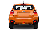 Straight rear view of 2015 Subaru XV-Crosstrek Premium 5 Door SUV Rear View  stock images