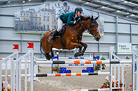 NZL-Kathryn Alabaster rides Houpuri Drama NZPH. Class 29: Fiber Fresh Horse 1.40m-1.45m 10K - FINAL. 2021 NZL-Easter Jumping Festival presented by McIntosh Global Equestrian and Equestrian Entries. NEC Taupo. Sunday 4 April. Copyright Photo: Libby Law Photography
