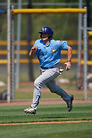 Tampa Bay Rays Seaver Whalen (79) running the bases during a Minor League Spring Training game against the Boston Red Sox on March 25, 2019 at the Charlotte County Sports Complex in Port Charlotte, Florida.  (Mike Janes/Four Seam Images)