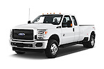 2015 Ford F-350 Super Duty XL 4x4 SuperCab 158-In DRW 2 Door pickup Angular Front stock photos of front three quarter view