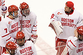 Charlie McAvoy (BU - 7), Brandon Hickey (BU - 4), Connor Lacouvee (BU - 30) - The Boston University Terriers tied the visiting Providence College Friars 2-2 on Saturday, December 3, 2016, at Agganis Arena in Boston, Massachusetts.