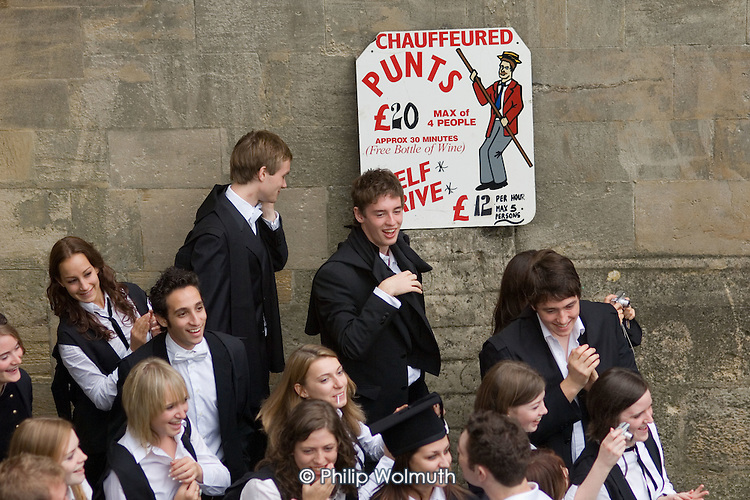 First year students at Oxford celebrate after matriculation, the ceremony which marks their formal induction into the university.