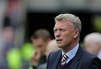 Sunderland manager David Moyes stand in the technical area during the Premier League match between Sunderland and Swansea City at the Stadium of Light, Sunderland, England, UK. Saturday 13 May 2017