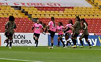 BOGOTA - COLOMBIA, 29-08-2021: Independiente Santa Fe vs Llaneros F. C. durante partido de la Fase de Grupos de la fecha 10 por la Liga Femenina BetPlay DIMAYOR 2021 jugado en el estadio Nemesio Camacho El Campin en la ciudad de Bogota. / Independiente Santa Fe vs Llaneros F. C. during a match of the Group Phase the 10th date for the Women's League BetPlay DIMAYOR 2021 played at the Nemesio Camacho El Campin stadium in Bogota city. / Photo: VizzorImage / Luis Ramirez / Staff.