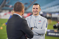 JACKSONVILLE, FL - NOVEMBER 10: Vlatko Andonovski and Earnie Stewart of the United States women's national team chat together during a game between Costa Rica and USWNT at TIAA Bank Field on November 10, 2019 in Jacksonville, Florida.