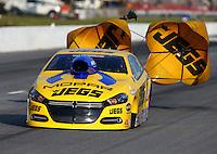 May 17, 2014; Commerce, GA, USA; NHRA pro stock driver Jeg Coughlin Jr during qualifying for the Southern Nationals at Atlanta Dragway. Mandatory Credit: Mark J. Rebilas-USA TODAY Sports