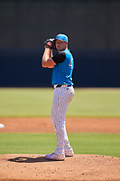 Tampa Tarpons pitcher Matt Sauer (47) during a game against the Dunedin Blue Jays on May 9, 2021 at George M. Steinbrenner Field in Tampa, Florida.  (Mike Janes/Four Seam Images)