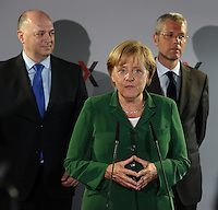 Bundeskanzlerin Angela Merkel (CDU) besucht die Leipziger Strombörse EEX (European Energy Exchange). Foto: Norman Rembarz..Norman Rembarz , Autorennummer 41043728 , Holbeinstr. 14, 04229 Leipzig, Tel.: 01794887569, Hypovereinsbank: BLZ: 86020086, KN: 357889472, St.Nr.: 231/261/06432 - Jegliche kommerzielle Nutzung ist honorar- und mehrwertsteuerpflichtig! Persönlichkeitsrechte sind zu wahren. Es wird keine Haftung übernommen bei Verletzung von Rechten Dritter. Autoren-Nennung gem. §13 UrhGes. wird verlangt. Weitergabe an Dritte nur nach  vorheriger Absprache..