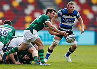 27th March 2021; Brentford Community Stadium, London, England; Gallagher Premiership Rugby, London Irish versus Bath; Nick Phipps of London Irish passes the ball