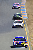 Monster Energy NASCAR Cup Series<br /> Toyota/Save Mart 350<br /> Sonoma Raceway, Sonoma, CA USA<br /> Sunday 25 June 2017<br /> Kyle Busch, Joe Gibbs Racing, M&M's Caramel Toyota Camry, Trevor Bayne, Roush Fenway Racing, AdvoCare Ford Fusion, Kurt Busch, Stewart-Haas Racing, Monster Energy/Haas Automation Ford Fusion, Denny Hamlin, Joe Gibbs Racing, FedEx Ground Toyota Camry<br /> World Copyright: John K Harrelson<br /> LAT Images