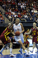 BERKELEY, CA - MARCH 30: Jayne Appel scoring drive during Stanford's 74-53 win against the Iowa State Cyclones on March 30, 2009 at Haas Pavilion in Berkeley, California.