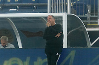 FOXBOROUGH, MA - SEPTEMBER 02: New England Revolution coach Bruce Arena after a break watches the team during a game between New York City FC and New England Revolution at Gillette Stadium on September 02, 2020 in Foxborough, Massachusetts.