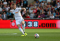 Alfie Mawson of Swansea City in action during the Premier League match between Swansea City and Watford at The Liberty Stadium, Swansea, Wales, UK. Saturday 23 September 2017