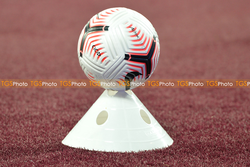 Match ball Covid 19 safe during West Ham United vs Newcastle United, Premier League Football at The London Stadium on 12th September 2020