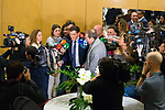Albert Rivera attends to an informative breakfast by Europa Press