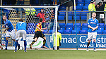 St Johnstone v Partick Thistle...29.03.14    SPFL<br /> Frazer Wright and Brian Easton show their fustration as Kris Doolan scores a late equaliser<br /> Picture by Graeme Hart.<br /> Copyright Perthshire Picture Agency<br /> Tel: 01738 623350  Mobile: 07990 594431