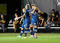 LAKE BUENA VISTA, FL - JULY 26: Jesús Medina of New York City FC celebrates his goal during a game between New York City FC and Toronto FC at ESPN Wide World of Sports on July 26, 2020 in Lake Buena Vista, Florida.