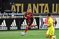 ATLANTA, GA - AUGUST 22: Brooks Lennon #11 dribbles the ball during a game between Nashville SC and Atlanta United FC at Mercedes-Benz Stadium on August 22, 2020 in Atlanta, Georgia.
