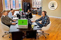 Members of the Tresata Inc. in their Charlotte, North Carolina office.Tresata, Inc. provides data management platform. Its platform brings unstructured online, email, twitter, voice, and GPS data to internal data and produces new data products.