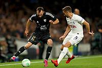 30th September 2021; Tottenham Hotspur Stadium. Tottenham, London, England; UEFA Conference League football, Tottenham v NS Mura: Ziga Kous of NS Mura takes on Harry Winks of Tottenham Hotspur