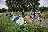 """""""accident de parcours""""<br /> <br /> Antwerp Port Epic / Sels Trophy 2021 (BEL)<br /> One day race from Antwerp to Antwerp (183km)<br /> <br /> The APC stands qualified as a 'road race', but with 36km of gravel and 28km of cobbled sections in and around the Port of Antwerp (BEL) this race occupies a unique spot in the Belgian race scene.<br /> <br /> ©kramon"""