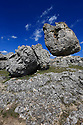 23/08/13 - CAUSSE MEJEAN - LOZERE - FRANCE - Chaos de Nimes le Vieux dans le Parc National des Cevennes - Photo Jerome CHABANNE