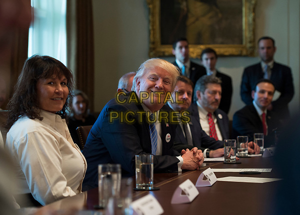 March 23, 2017 - Washington, D.C., United States: President Donald Trump holds a listening session on health care with truckers and CEOs from American Trucking Associations in the Cabinet Room at the White House. <br /> CAP/MPI/CNP/RS<br /> ©RS/CNP/MPI/Capital Pictures