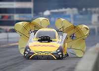 Sep 14, 2019; Mohnton, PA, USA; NHRA funny car driver J.R. Todd during qualifying for the Reading Nationals at Maple Grove Raceway. Mandatory Credit: Mark J. Rebilas-USA TODAY Sports