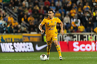 HARRISON, NJ - MARCH 11: Jesus Duenas #29 of Tigres UANL during a game between Tigres UANL and NYCFC at Red Bull Arena on March 11, 2020 in Harrison, New Jersey.