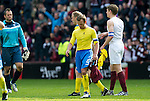 Hearts v St Johnstone....06.05.12   SPL.Head bowed from Jody Morris as European football slips away.Picture by Graeme Hart..Copyright Perthshire Picture Agency.Tel: 01738 623350  Mobile: 07990 594431
