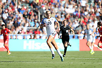 Cary, NC - Sunday October 22, 2017: Allie Long during an International friendly match between the Women's National teams of the United States (USA) and South Korea (KOR) at Sahlen's Stadium at WakeMed Soccer Park. The U.S. won the game 6-0.