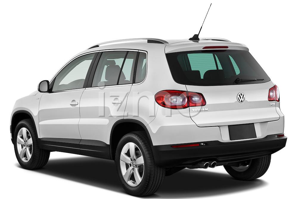 Rear three quarter view of a 2010 Volkswagen Tiguan Wolfsburg SUV  Stock Photo