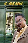 Jake Lamar, American author in Montmartre.