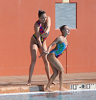 Stanford, CA; Saturday February 11, 2012: Synchronized Swimming, Stanford vs Incarnate Word.<br /> Stanford Duet 2: Madison Crocker, Jessica Guenther.