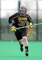 14 April 2007: University of Albany Great Danes' Mark Phelan, a Sophomore from Arnold, MD, in action against the University of Vermont Catamounts at Moulton Winder Field, in Burlington, Vermont. The Great Danes defeated the Catamounts 14-7...Mandatory Photo Credit: Ed Wolfstein Photo
