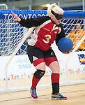 Whitney Bogart, Toronto 2015 - Goalball.<br /> Canada's Women's Goalball team plays against USA in the semi finals // L'équipe féminine de goalball du Canada joue contre les États-Unis en demi-finale. 14/08/2015.