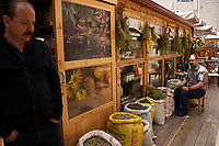 Shop selling herbs and spices in Kayseri, Turkey
