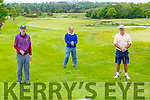 Jim Foley, Tom Finn and Brian Fitzgerald happy to be back playing golf in Killarney Golf club on Monday
