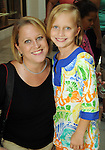 Jenifer Land and Jessica McCutchen,7, at the MD Anderson Back to School Fashion Show at The Galleria Saturday August 17, 2013.(Dave Rossman photo)