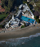 aerial photograph of the Coral Casino Beach & Cabana Club, Santa Barbara, California