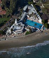aerial photograph of the Coral Casino Beach & Cabana Club, Santa Barbara, California