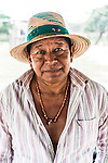 "Portrait of a Wayuuu man in a ""rancheria"", or traditional rural settlement, in La Guajira, Colombia."