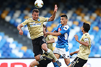 Eljif Elmas of Napoli compete for the ball<br /> during the Serie A football match between SSC  Napoli and SPAL at stadio San Paolo in Naples ( Italy ), June 28th, 2020. Play resumes behind closed doors following the outbreak of the coronavirus disease. <br /> Photo Cesare Purini / Insidefoto
