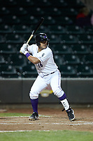 Daniel Gonzalez (16) of the Winston-Salem Dash at bat against the Wilmington Blue Rocks at BB&T Ballpark on April 15, 2019 in Winston-Salem, North Carolina. The Dash defeated the Blue Rocks 9-8. (Brian Westerholt/Four Seam Images)