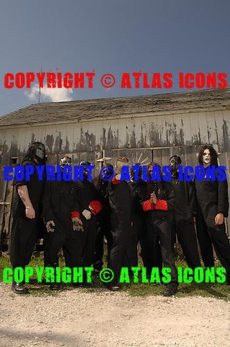 Slipknot Group Studio Portrait Session In Desmoines Iowa, on 6-28-2008.Photo Credit: Eddie Malluk/Atlas Icons.com