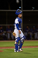 AZL Dodgers Mota catcher Juan Zabala (60) during an Arizona League game against the AZL Rangers at Camelback Ranch on June 18, 2019 in Glendale, Arizona. AZL Dodgers Mota defeated AZL Rangers 13-4. (Zachary Lucy/Four Seam Images)