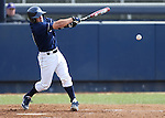 UC Davis' Izaak Silva takes an at bat during a college baseball game between the Washington Huskies and the Davis Aggies, in Davis, Ca., on Saturday, Feb. 16 2013. The Aggies won the opener 6-5 and dropped the second game 3-2..Photo by Cathleen Allison