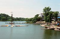 Columbia:  Artificial lake near Town Center. It's called Lake Kittamagundi.  Photo '85.