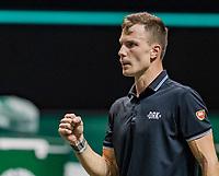 Rotterdam, The Netherlands, 5 march  2021, ABNAMRO World Tennis Tournament, Ahoy,  Quarter final:   Marton Fucsovics (HUN) wins<br /> Photo: www.tennisimages.com/henkkoster